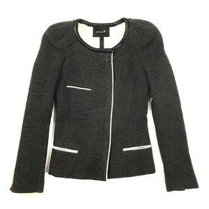 Isabel Marant asymmetrical jacket cotton leather